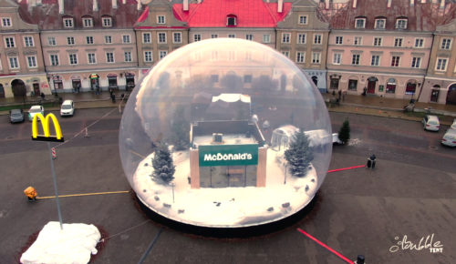 inflatable giant snow globe