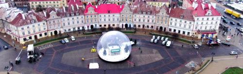 inflatable giant snow globe rental