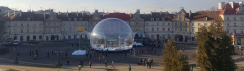 inflatable giant snow globe for rental